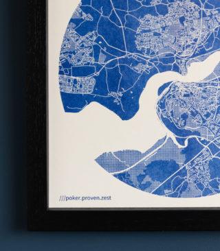 medium blue map