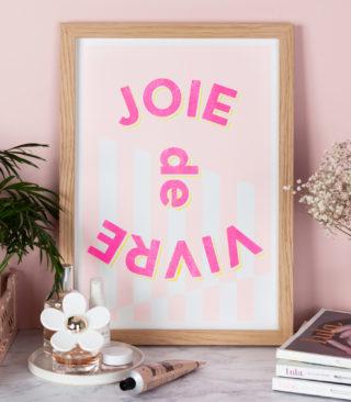 fluoro pink riso print