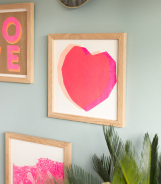 fluoro hearts print