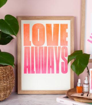 love always risograph print
