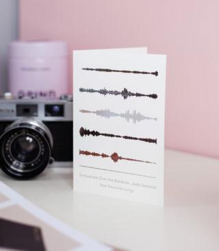 silver soundwave card
