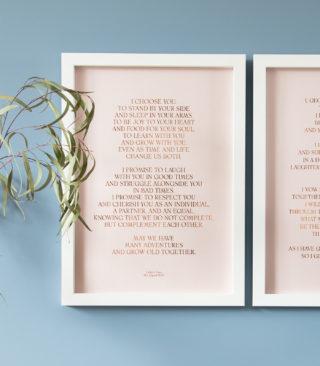 metallic vows print