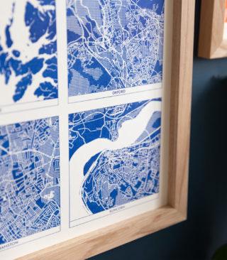 medium blue multi map