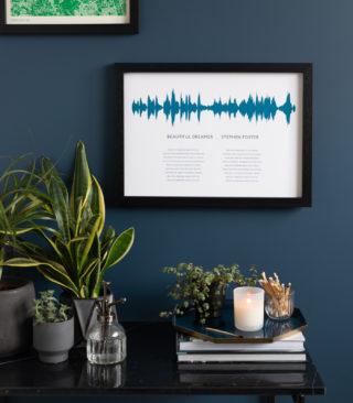 sea blue soundwave