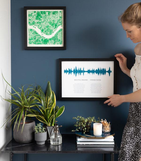 sound wave with lyrics print
