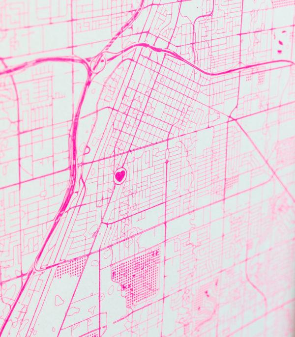 fluoro pink textures detail