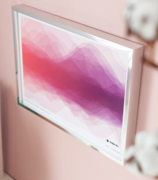 dusty pink to purple