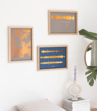 metallic foil prints