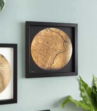 city map gold on black
