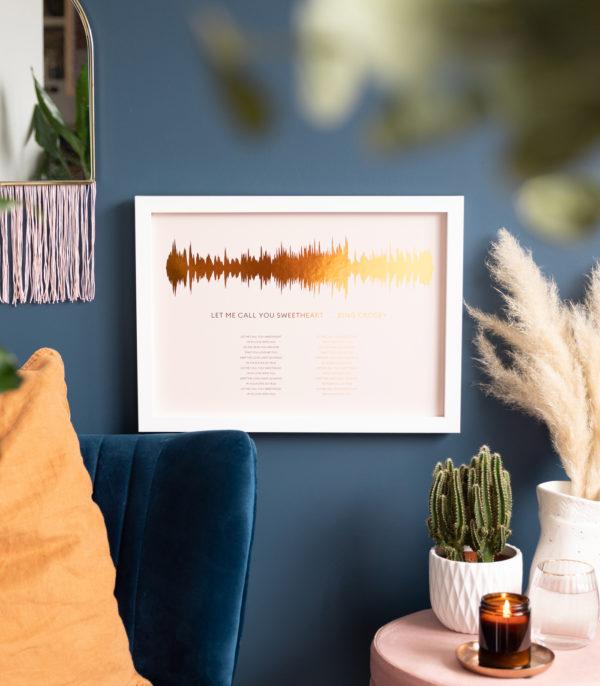 Soundwave with lyrics print