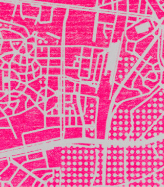 fluorescent pink risograph ink