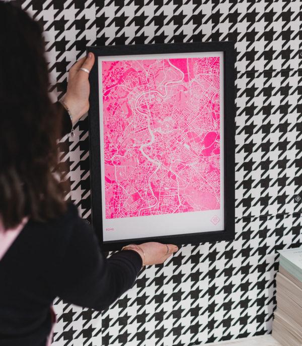 fluoro pink ink
