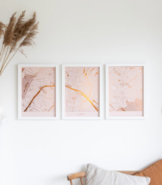 triptych metallic prints