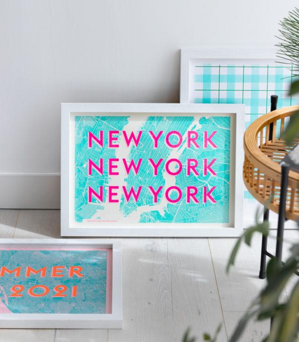 New York Typography Print