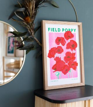 field poppy risograph