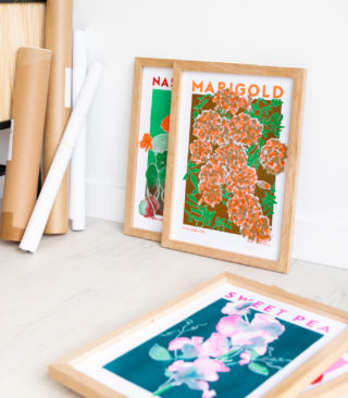 marigold risograph illustration