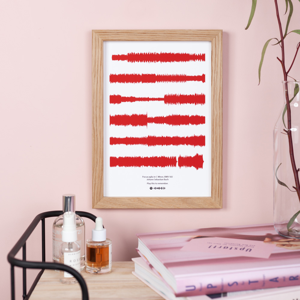 deep red soundwave