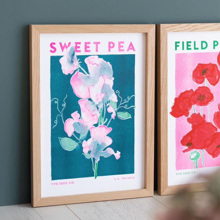 statement art sweet pea