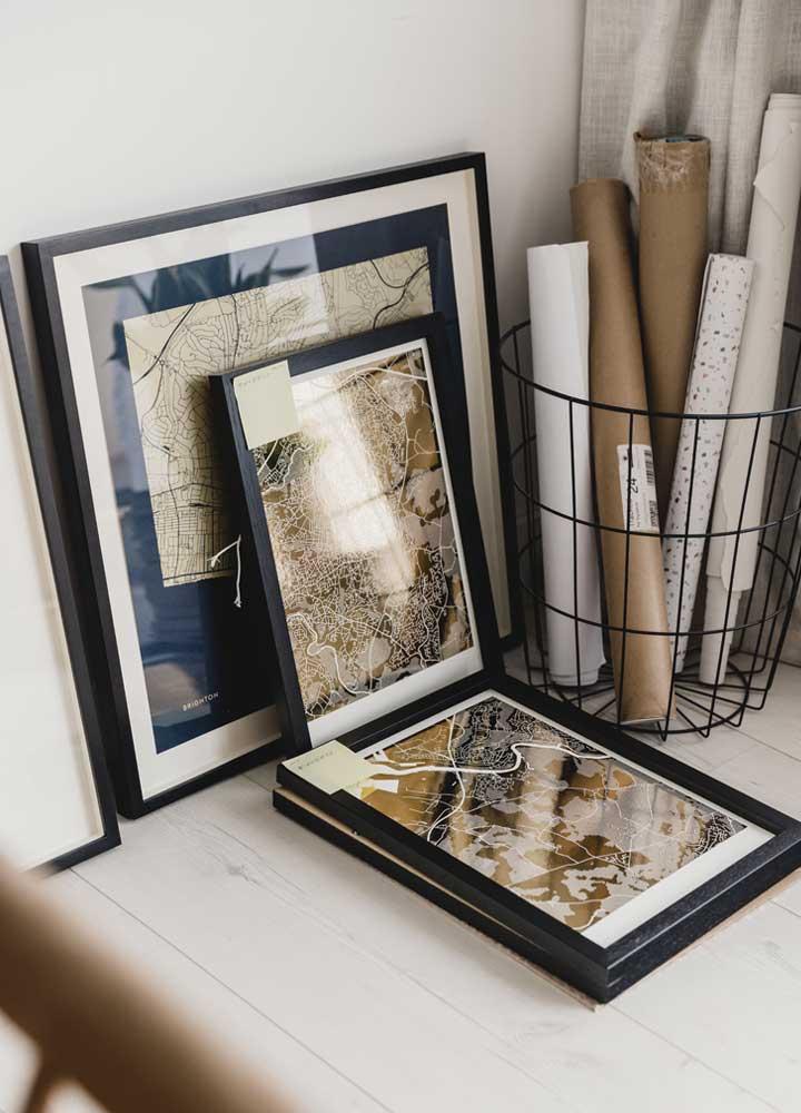 personalised foil map prints